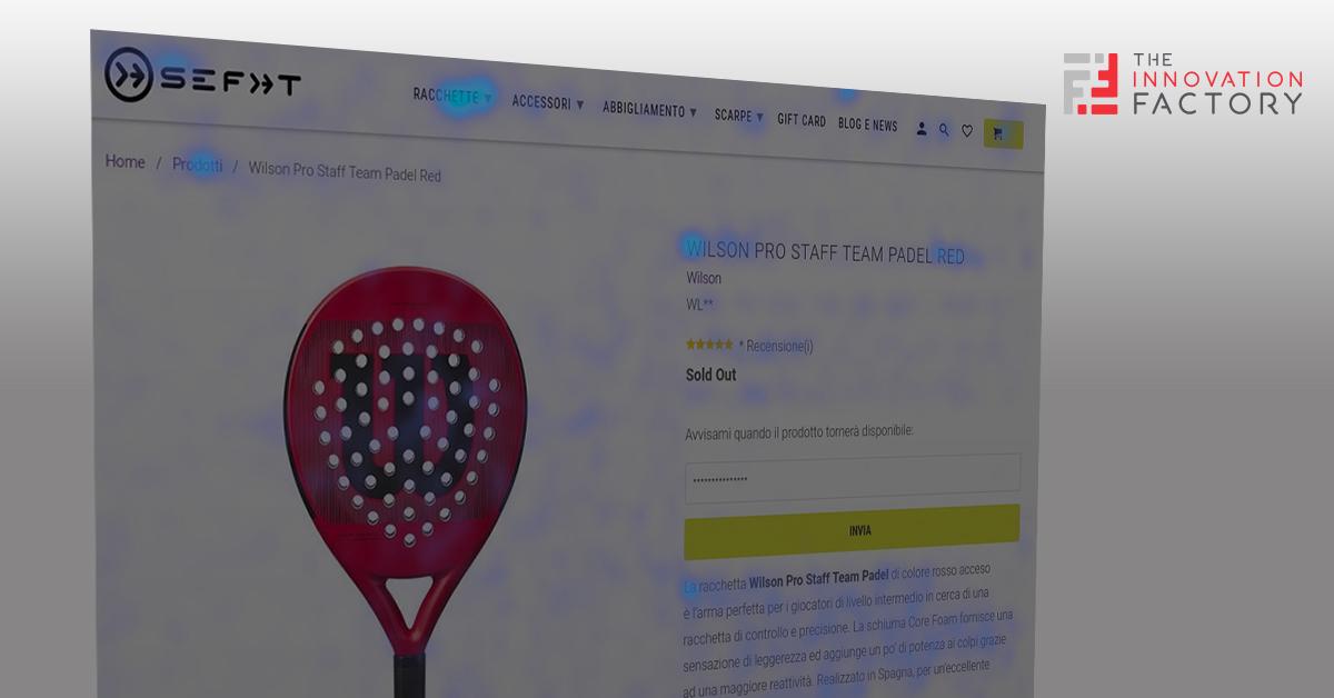 Mappa di calore sito ecommerce per analisi della Customer Journey Analysis